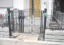 門を中心としたエクステリア工事