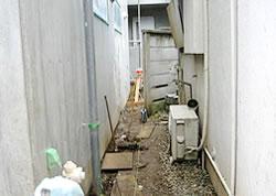 隣家境界の塀のエクステリア工事